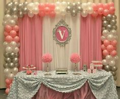 Baby Shower Ideas for Girls Decorations Diy Decor Pink . 45 New Baby Shower Ideas for Girls Decorations Diy Decor Pink . Pink and Gold Baby Shower Baby Shower Party Ideas In 2019 Party Kulissen, Shower Party, Baby Shower Parties, Party Favors, Party Ideas, Baby Showers, Shower Favors, Fiesta Shower, Shower Cake