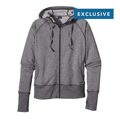 Patagonia Women's Cloud Stack Hoody - For summer's morning chill, this organic cotton/polyester blend hoody has cozy hand pockets, a ribbed hem and soft elasticized cuffs.