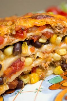 Mexican Lasagna    Trying it tonight. - From http://pinterest.com/pin/245094404693349918/