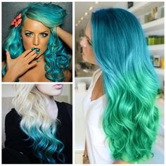 blue hair, wouldn't do, but its pretty.