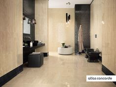 #MARVELPRO travertino alabastrino & noir st laurent   #AtlasConcorde   #Tiles   #Ceramic   #PorcelainTiles