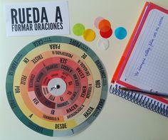 Rueda para Formar Oraciones. Descarga la plantilla en www.lapizdeele.com