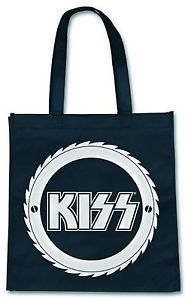 KISS LOGO BUZZ SAW, ROBUSTE TASCHE/ECO/SHOPPING BAG, OFF. MERCHANDISE PRODUCT!