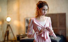 Lataa kuva Ksenia Kokoreva, kauniita tyttöjä, photomodels, kauneus, ruskeaverikkö