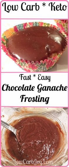 This Low Carb Chocolate Ganache Frosting makes a small batch that whips up quickly. It's perfect for topping a cupcake, ice cream or any other treat begging for a dollop of cheat-free chocolate.