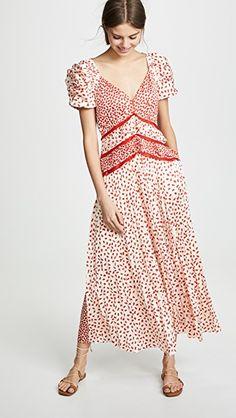 28d870fbfee Self Portrait Dot Satin Printed Dress