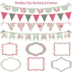 Shabby Chic Bunting and Tags / Frames  grunge  por SPGraphics, $4.00