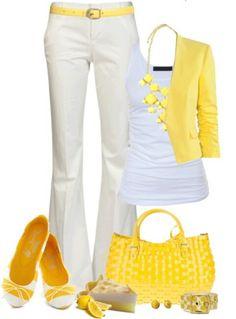 Blanco y amarillo