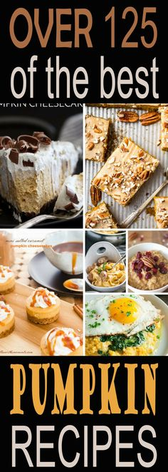 Over 125 pumpkin recipes from sweet pumpkin recipes to savory pumpkin recipes to get you cooking this fall. Easy pumpkin muffins, pancakes, cheesecake, pasta and more.