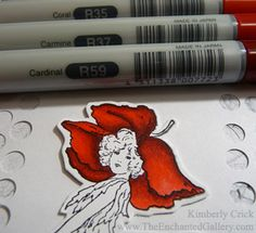 Kimberly Crick's instruction page for using a variety of media to color your rubber stamped images (Copic markers, water-based markers, faux watercoloring with markers, distressed ink...lots of good info) #diy #how_to