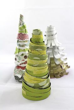 Scrapbook paper/book page Tree Ornament inspiration...