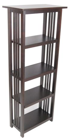 Yu Shan 3 Shelf Folding Stackable Bookcase 14 Inch Wide Walnut By 6999 No Assembly Required Made Of 100 Percent Solid