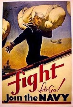 Navy recruiting poster of yesteryear