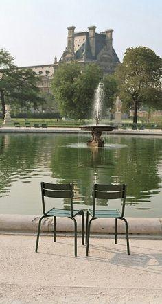 Pond at the Tuileries - Paris