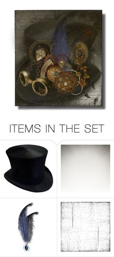 """Steampunk Top Hat"" by tempestaartica ❤ liked on Polyvore featuring art"