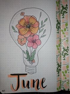 June bullet journal flowers Washi tape