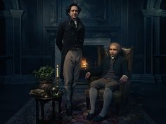 We finally get to see actors Bertie Carvel and Eddie Marsan as Strange and Norrell, respectively, in the BBC's adaptation of the best-selling novel by Susanna Clarke, and they look outstanding. Alas, they only released this one promotional pic, but we had to share it because we're absolutely salivating for this series.