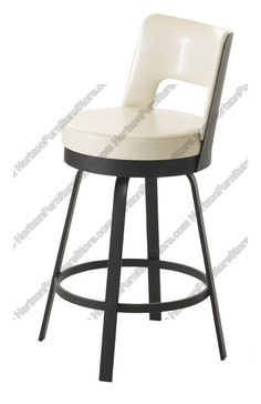 Amisco Brock Upholstered Back Swivel Stool 41435