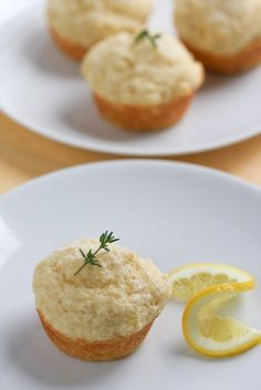 """Tuscan Lemon Muffins   foodnfocus.com Made with ricotta cheese for a light and fluffy texture. I'm not quite sure what makes them """"Tuscan."""""""
