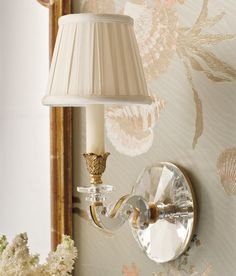 Brass and crystal sconce. One-light electrified solid brass sconce hand-crafted with solid crystal. Wall sconce has an antique finish. Crystal Sconce, Brass Sconce, Crystal Wall, Jeanne D'arc Living, Fresh Farmhouse, Candelabra Bulbs, Southern Homes, Southern Charm, Elegant Homes