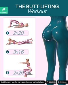Have you been looking for those butt-lifting workouts? With only three workouts that will target your lower body muscles, you'll get a lifted, toned, sexy booty. Start today and reach that perfect butt shape. - THE BUTT-LIFTING WORKOUT Fitness Workouts, Lifting Workouts, Gym Workout Tips, Fitness Workout For Women, 30 Minute Workout, Ab Workout At Home, Body Fitness, Butt Workout, Workout Challenge