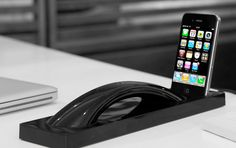 Native Union Curve Bluetooth Wireless Handset & iPhone Dock - so beautiful, almost sculptural