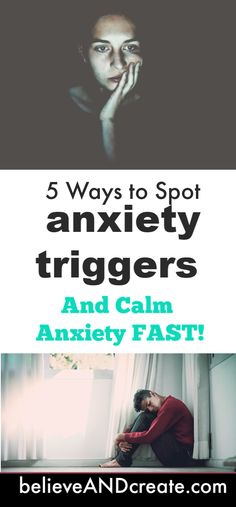 If you suffer from anxiety, worry, and panic attacks, you need to clik through to learn 5 powerfully effective ways to identify and handle anxiety triggers and return to calm quickly. Don't wait: you don't have to live in anxiety. Relief is possible! Mental Health Resources, Mental Health Matters, Mental Health Awareness, Anxiety Tips, Stress And Anxiety, Stress Relief Tips, Thing 1, Anxiety Disorder, Transform Your Life