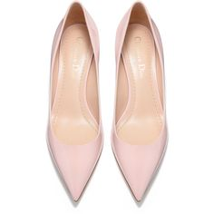 High-heeled shoe in pink patent calfskin leather - Dior ❤ liked on Polyvore featuring shoes, high heeled footwear, calf leather shoes, pink shoes, patent shoes and high heel shoes