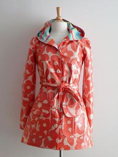 Amy Butler Rainy Days raincoat