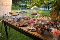 Dessert assortment.  Could have one small traditional cake and then ask the a few of groom's lady relatives to bring their favorite dessert (cake / pie / etc) for a dessert table (put a little sign next to each dessert saying what it is and who made it).