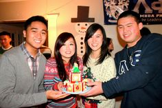 Lambdas program a #gingerbread house and Christmas sweater social with Sigma Psi Zeta. It's a shame really, gingerbread house building to Christmas is like pumpkin carving to Halloween; a lost art. It seems like everyone is too busy to practice art themselves and instead of engaging in this fun activity, they pay others for their holiday decor. At the Lambda house, we always take time out to appreciate good art, especially if it's fun for the whole family.