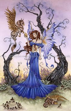 Fairy Art Artist Amy Brown: The Official Online Gallery. Fantasy Art, Faery Art, Dragons, and Magical Things Await. Woodland Creatures, Magical Creatures, Fantasy Kunst, Fantasy Art, Diy Art, Dragons, Amy Brown Fairies, Kobold, Fairy Pictures