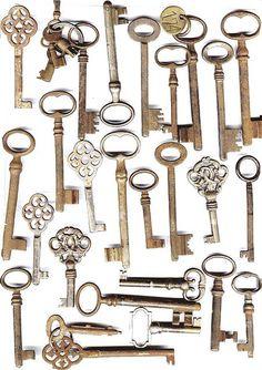 Antique keys n locks Antique Keys, Vintage Keys, Vintage Love, Under Lock And Key, Key Lock, Knobs And Knockers, Door Knobs, Old Keys, Key To My Heart