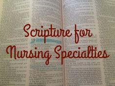 Nurse Discover Scripture for Nursing Specialties I couldnt get through Nursing School without my faith. The past year and a half of Nursing School have seen some of the most stressful difficult and often discouraging days of my life. (Fellow N Nursing School Quotes, Nursing School Motivation, Nursing Career, Nursing Tips, Nursing Notes, Nurse Quotes, Nursing Programs, Nursing Major, Ob Nursing