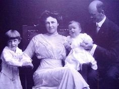 Pictured left to right are: Josiah Collins, VI (1908-1990), Caroline Wetherill Collins (1876-1928), Wetherill Collins (1911-1984), and Josiah Collins, V (1864-1949). Josiah V was the son of Josiah Collins, IV (of Somerset Place) and Sarah Jones Collins. He remembered taking quinine to ward off malarial fevers as a small boy while living at Somerset Place.