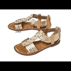 1bc32e7e3f0 Sam   Libby Kayla Gold Gladiator Studded Sandals Size 10!! Good condition  -only