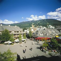 Whistler Village. We had a very enjoyable stay here with our friends.