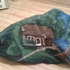 """Grandma's+House""+Hand+Painted+Rock+by+Gary+Goza"