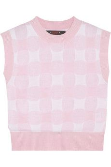 Sister by Sibling Cropped gingham knitted top | NET-A-PORTER
