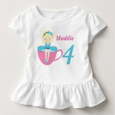 Tea Party Birthday Girl Toddler T-shirt