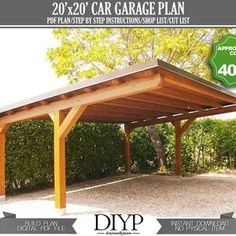 Lean To Carport, Modern Carport, Diy Carport, 2 Car Carport, Lean To Roof, Carport Plans, Garage Roof, Patio Plans, Shed Roof