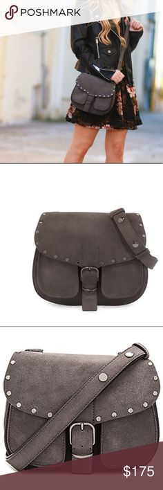 Rebecca Minkoff Crossbody Saddle Bag in Gray Suede NWT Rebecca Minkoff Crossbody Saddle Bag in Gray Suede Rebecca Minkoff Bags Crossbody Bags