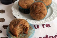 Whole Wheat Banana Muffins from @Bluebonnets & Brownies  - option to use maple syrup for sweetener = win!