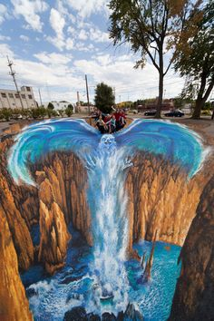 33 Brain-Melting Works Of 3-D Sidewalk Chalk Art : Edgar Mueller / Via metanamorph.com