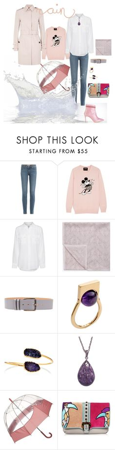 Pink rain by yaninna-diaz on Polyvore featuring moda, Markus Lupfer, Equipment, Burberry, Paige Denim, Paula Cademartori, URiBE, Janna Conner, Valentino and Hunter