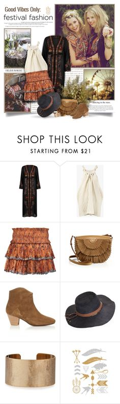"""""""Good Vibes Only: Festival Fashion"""" by thewondersoffashion ❤ liked on Polyvore featuring River Island, STELLA McCARTNEY, Isabel Marant, Agnona, Peter Grimm and Panacea"""