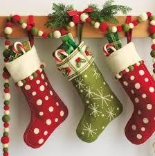 fabric christmas stockings - Google Search