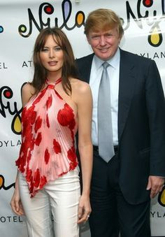 Melania Knauss and Donald Trump during Britney Spears Restaurant Nyla Grand Opening Party at Nyla in New York City, New York, United States. (Photo by James Devaney/WireImage) via @AOL_Lifestyle Read more: http://www.aol.com/article/lifestyle/2016/11/10/ivanka-trump-style/21603497/?a_dgi=aolshare_pinterest#fullscreen