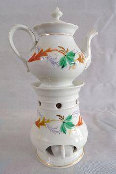 tisanière ancienne en porcelaine de Paris / french porcelain / french vintage / infusion / antique porcelain / déco shabby / shabby chic /