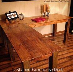 L-Shaped Farmhouse Desk.